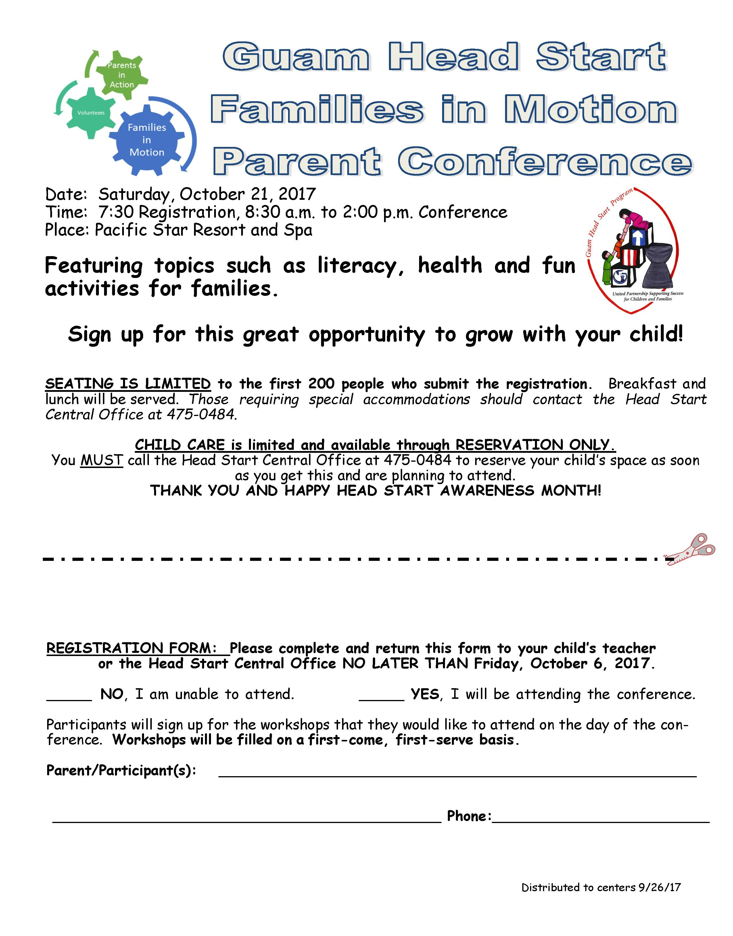 Guam Head Start Program Annual Parent Engagement Conference